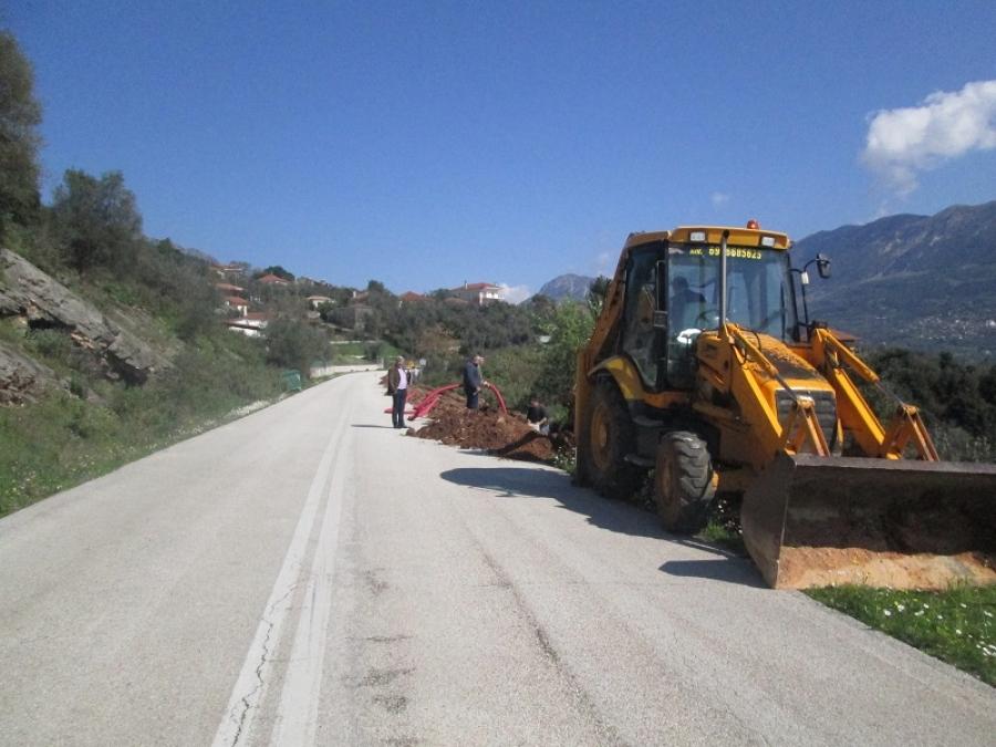 Πρέβεζα: Σε εξέλιξη τα έργα φωτισμού στο δρόμο Ελιά - οικισμός Πλατάνια της Τ.Κ. Νικολιτσίου