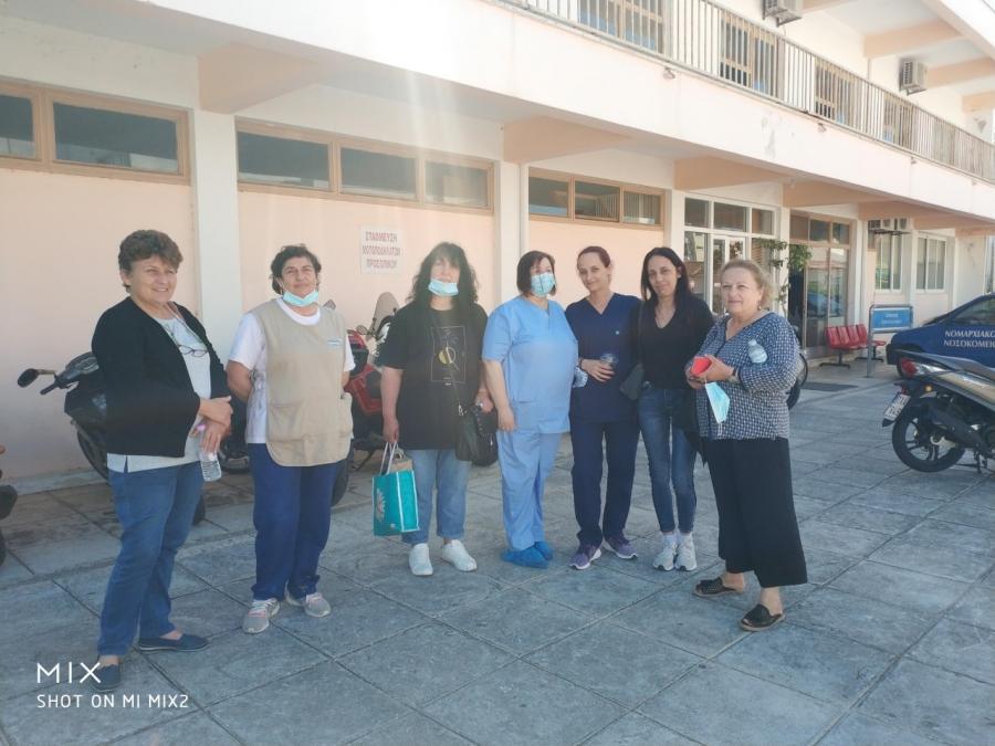 Παράσταση διαμαρτυρίας στη διοίκηση του Νοσοκομείου Πρέβεζας