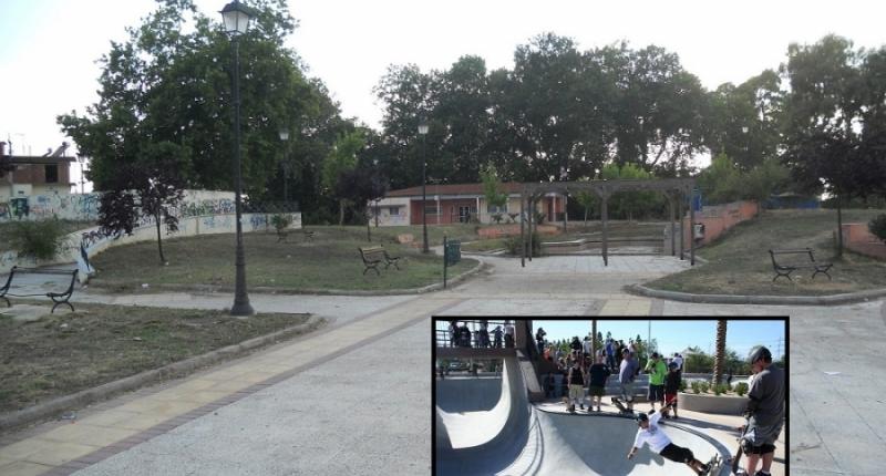 Πίστα skateboard και φωταγωγημένος χώρος στο Πυροβολικό στην Πρέβεζα