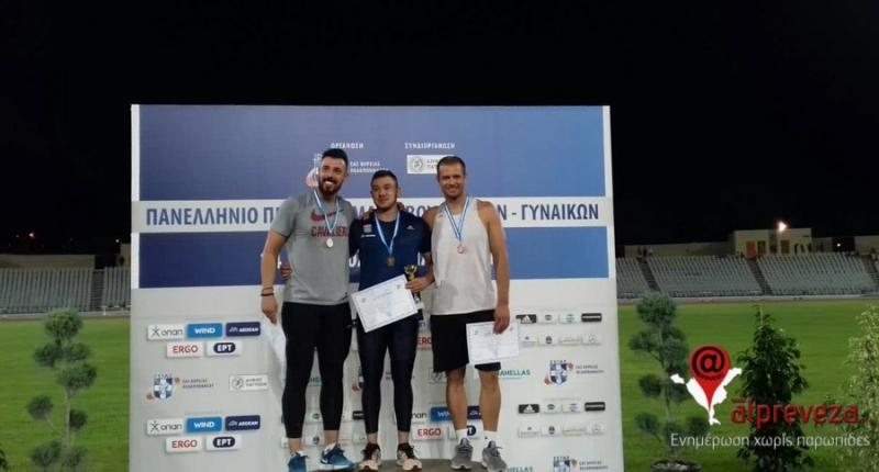 Χρυσό μετάλλιο για τον Πρεβεζάνο ακοντιστή Κωνσταντίνο Μυλωνά στο Πανελλήνιο Πρωτάθλημα Στίβου!