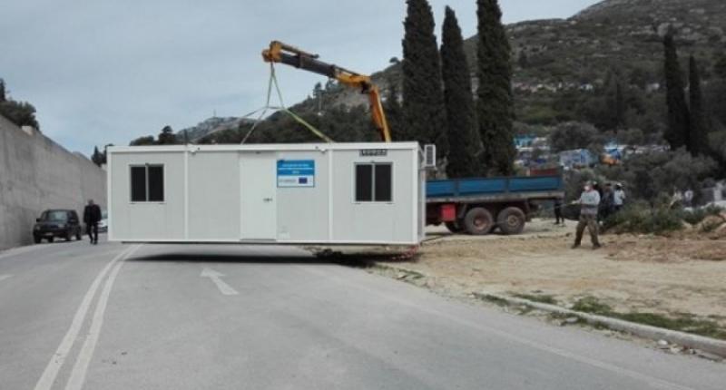 Οκτώ οικίσκοι τύπου container θα παραδοθούν σε σεισμόπληκτους του Φαναρίου